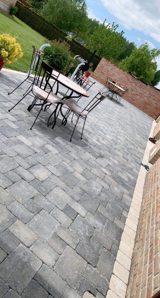 Terrasse pavée Douai